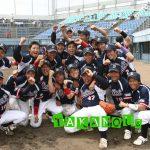 神宮大会(全日本大学生硬式野球大会)に出場を決めたときのガッツポーズとスマイル