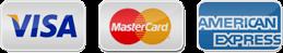 VISAカード・Masterカード・AMERICAN EXPRESSカードでのお支払いが可能です