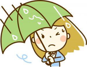 台風による気圧変動