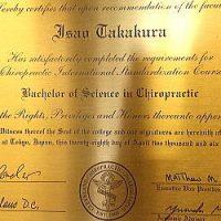 カイロプラクティック療法(整体)の正式学位|Bachelor