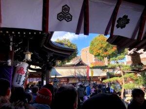 博多山笠で有名な櫛田神社